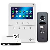 Комплект видеодомофона NeoLight Tetta+ WiFi Box Graphite, фото 1