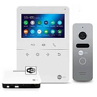 Комплект видеодомофона NeoLight Tetta+ WiFi Box Silver, фото 1