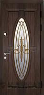 Дверь входная Лотос со стеклом и ковкой серии Классик ТМ Каскад