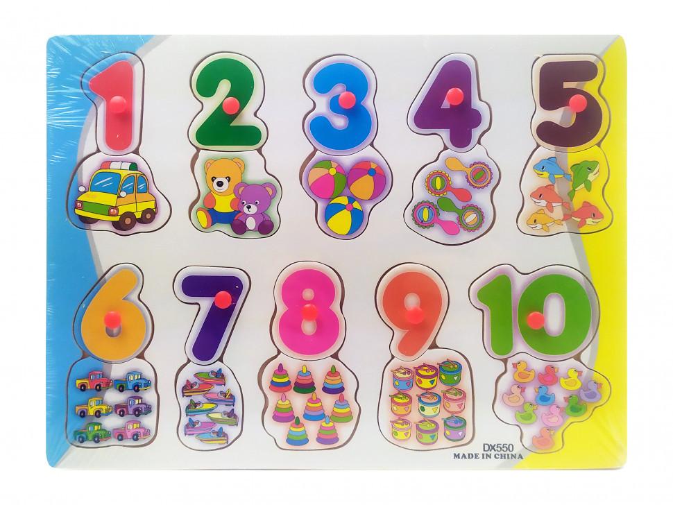 Деревянная игрушка Рамка-вкладыш MD0646-5 ( 0646-550)