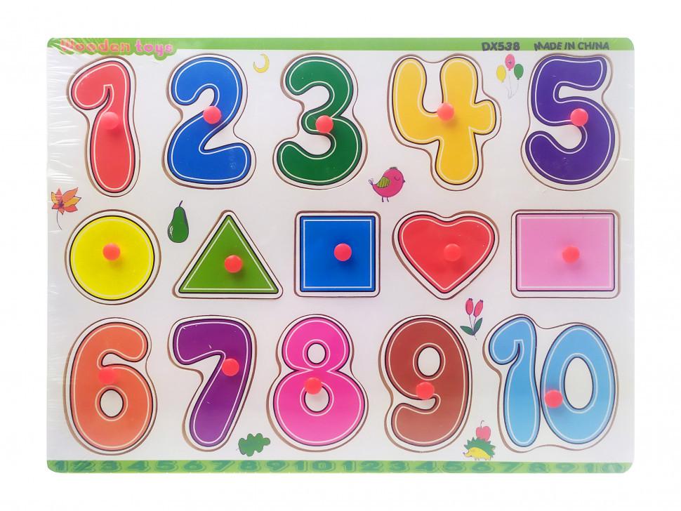 Деревянная игрушка Рамка-вкладыш MD0646-5 ( 0646-538)