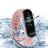 Ремешок для фитнес браслета Xiaomi Mi Band 5 Pale pink, фото 4
