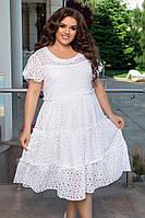 Женское лёгкое платье батал с 48 по 58 рр ткань прошва