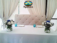Композиции на президиум в вазах в синем цвете