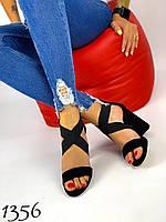 Женские черные босоножки на каблуке 38,40,41 размер