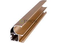 ДС Профиль вертикальный открытый с пазом L-4,7м Золото ДС ОптимаЛайн