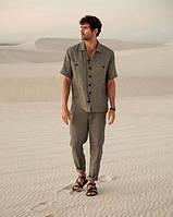 Оригинальный , серый, молочный, и других цветов мужской костюм из льна . Размер 40-74+ батал, фото 1