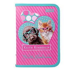"""Папка для зошитів 1Вересня пласт. на блискавці В5 """"Keith Kimberlin"""""""