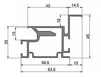 Профиль для двери скрытого монтажа Dimir: 63,5*45 ММ