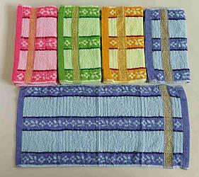 Махровые полотенца для рук «Золотая полоса» 35*70 см (12 шт)