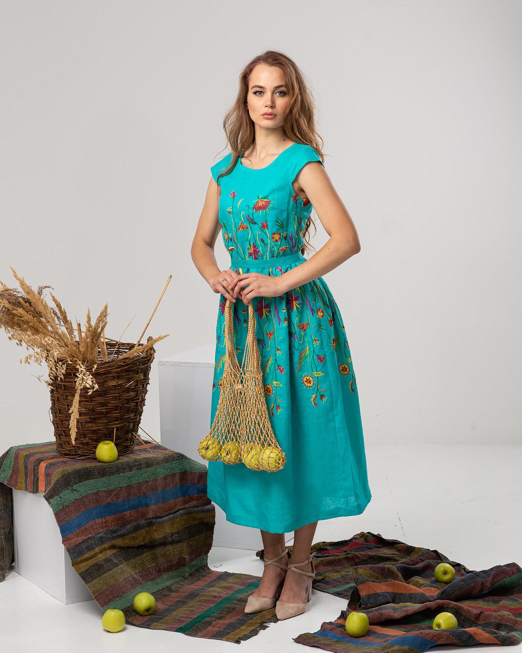 """Платье с цветочной вышивкой """"Клер"""""""