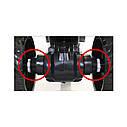 Электромобиль мотоцикл трехколесный белый сидение эко-кожа два мотора светятся фары и колеса деткам 3-8 лет, фото 3