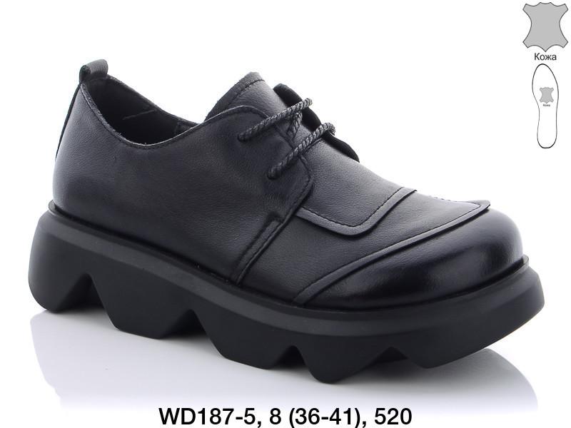 Туфли женские кожаные черные Teetspace-Trasta-Egga-WD187-5