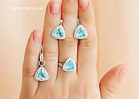 Набір Трикутники срібло 925, фото 1