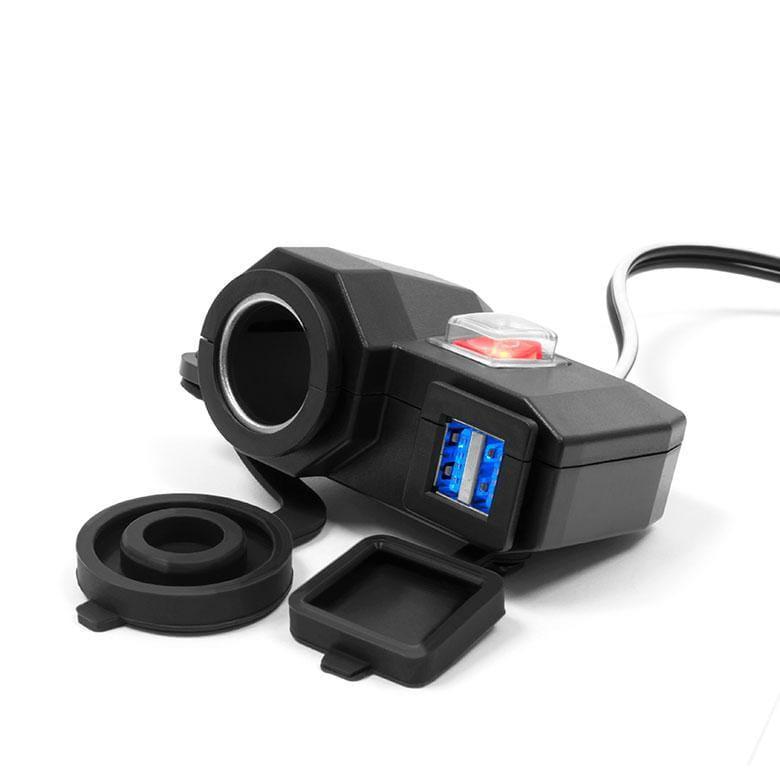Прикурювач і USB зарядка для мотоцикла на кермо eXtreme® MUS04-L