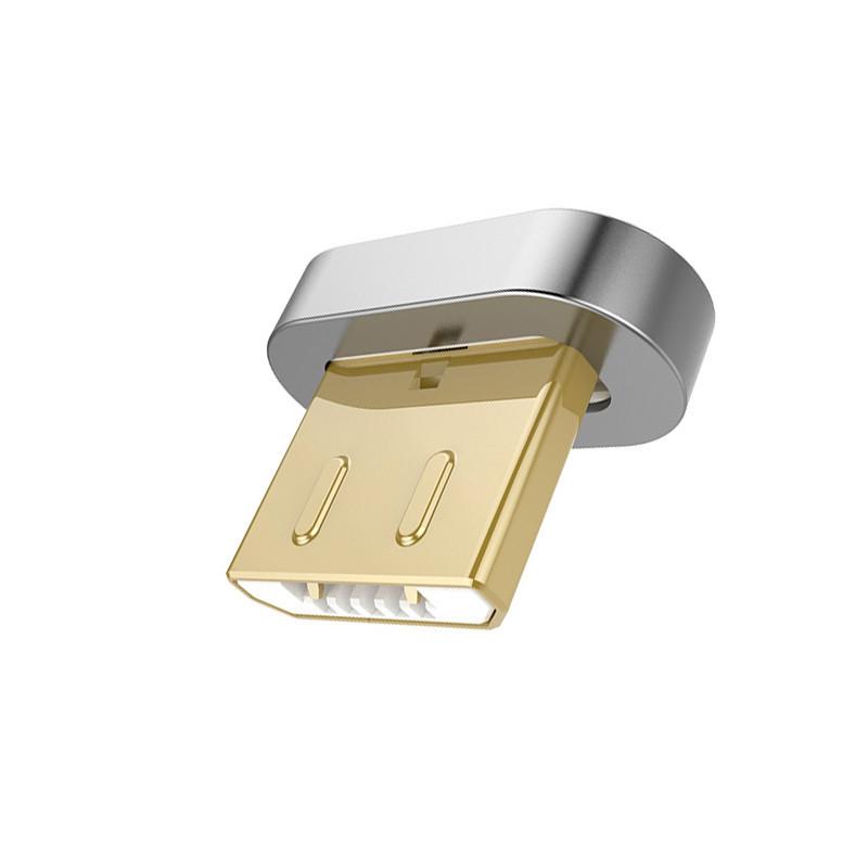 Наконечник Micro USB Pzoz для магнитного кабеля Серебристый (5284969731)