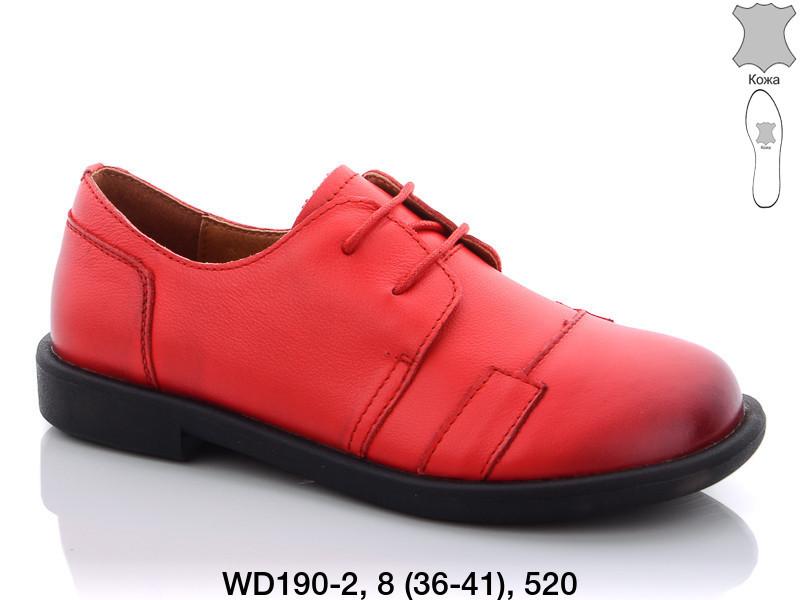 Туфли женские кожаные красные Teetspace-Trasta-Egga-WD190-1