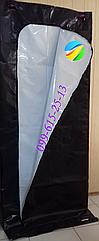 Патологоанатомический мешок черно-белый 80*220*200