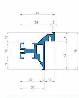 Профиль для двери скрытого монтажа Dimir: 45*42 ММ