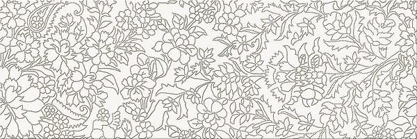 Плитка Opoczno / White Inserto Flower  25x75