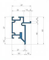 Профиль для двери скрытого монтажа Dimir: 60*42 ММ