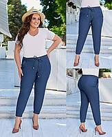 Женские джинсовые брюки на резинке большие размеры 1(48-50), 2(52-54), 3(56-58) юэ210716, фото 1