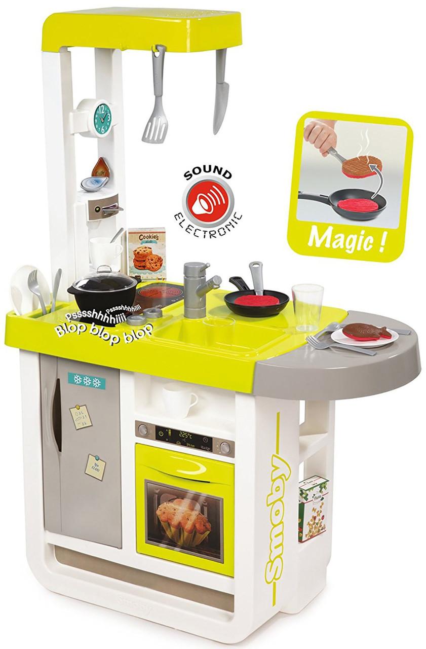 Дитяча інтерактивна ігрова кухня «Черрі» Smoby 310908 з аксесуарами для дітей