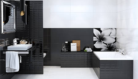 Плитка Opoczno / Black&White Mosaic  25x75, фото 2
