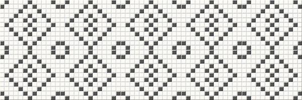 Плитка Opoczno / Black&White Mosaic  25x75