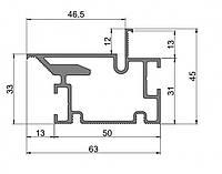 Профиль для двери скрытого монтажа Dimir: 63*45 ММ