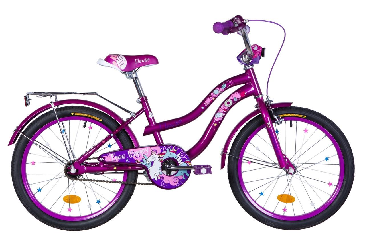 """Велосипед 20"""" Formula FLOWER 2020 (розовый с голубым)"""