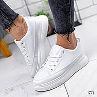 Женские белые кроссовки, легкие и удобные, ОВЛ 1771, фото 1