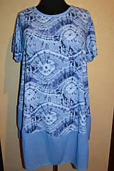 Женское  платье с разводами  больших размеров