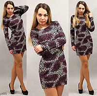 Леопардовое женское платье демисезонное