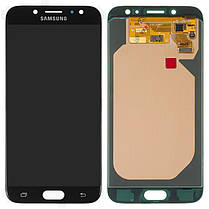 Модуль (сенсор+дисплей) Samsung J730F, J730GM/DS, J730G/DS, J730G/DS, J730FM/DS Galaxy J7 (2017) OLED чорний, фото 2