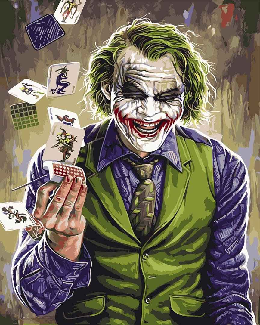 Картина по номерам Джокер, цветной холст, 40*50 см, без коробки Barvi