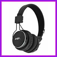 Беспроводные Наушники NIA-Q8 Plus Bluetooth, Радио, с MP3 Плеером, Чёрные