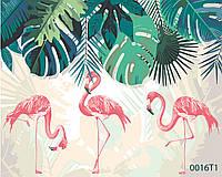 Картина по номерам Фламинго, цветной холст, 40*50 см, без коробки Barvi