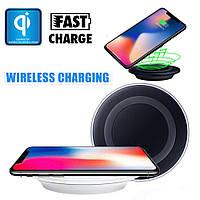 Универсальная беспроводная зарядка QI wireless charger 6s Черная, фото 1