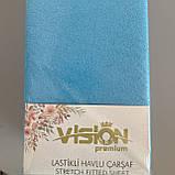 """Махровая простынь на резинке 230х250см Простынь""""VISION Premium"""" на двуспальный матрас., фото 2"""