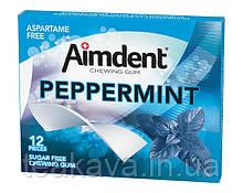 Жувальна гумка без цукру зі смаком м'яти перцевої Aimdent PEPPERMINT, 12 шт/уп (жевачка, жуйка)