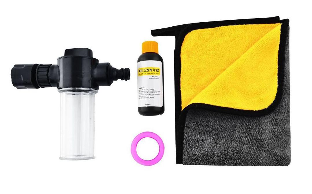 Набір для миття машини Baseus Simple Life Car Wash Suit Чорний (TZCRSC-01)