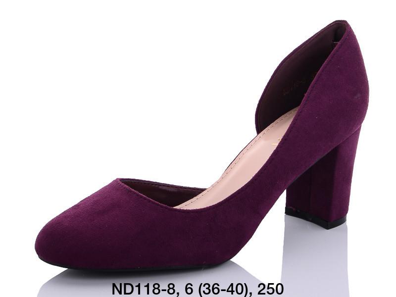 Туфли женские на каблуке фиолетовые Teetspace-Trasta-Egga-ND118-8