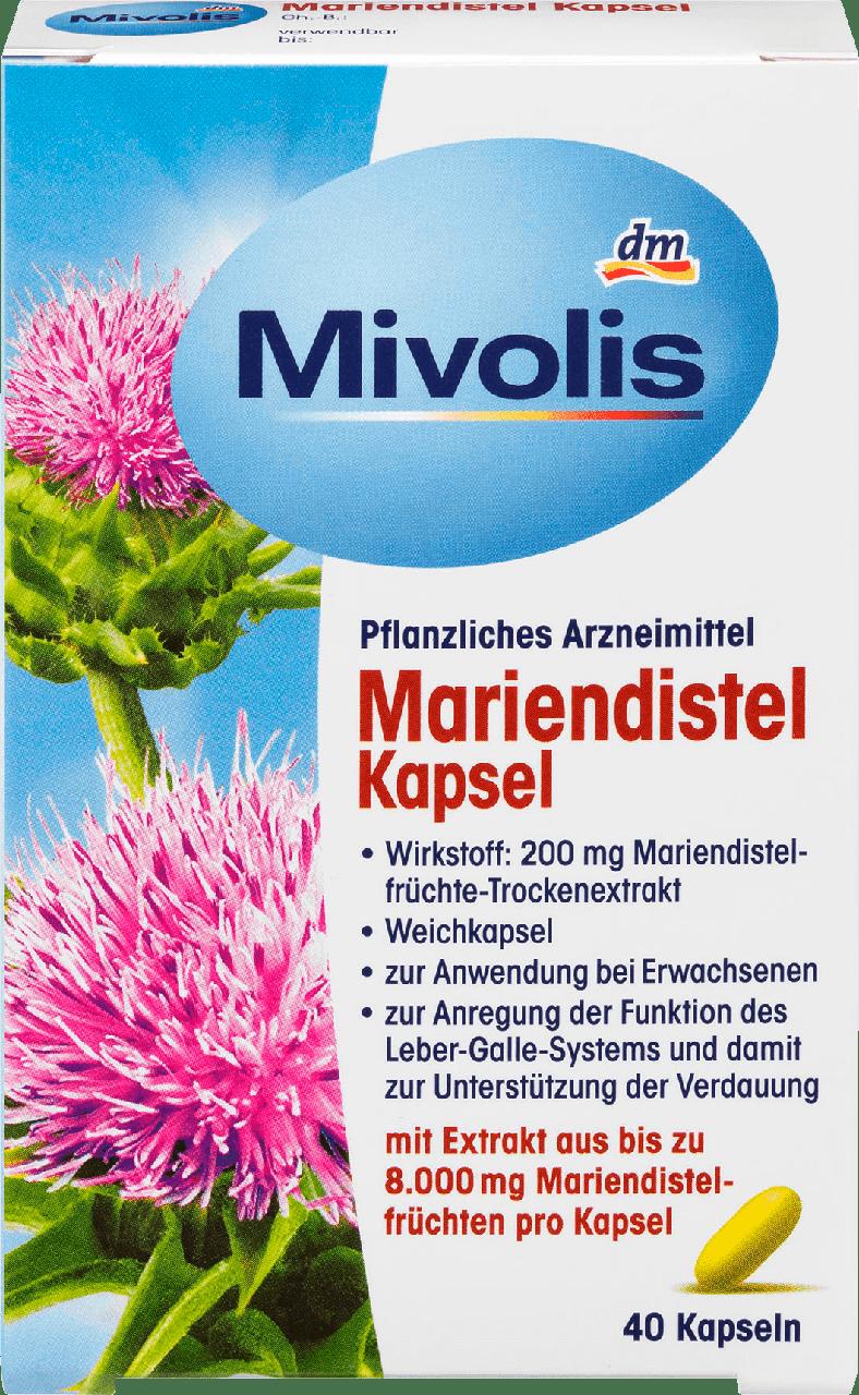 Биологически активная добавка Mivolis Mariendistel молочный чертополох, 40 шт.