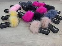 Хіт сезону літо 2020 модні капці з натуральним пір'ям страуса 35, 36, 37, 38, 39, 40, 41, 42, фото 1