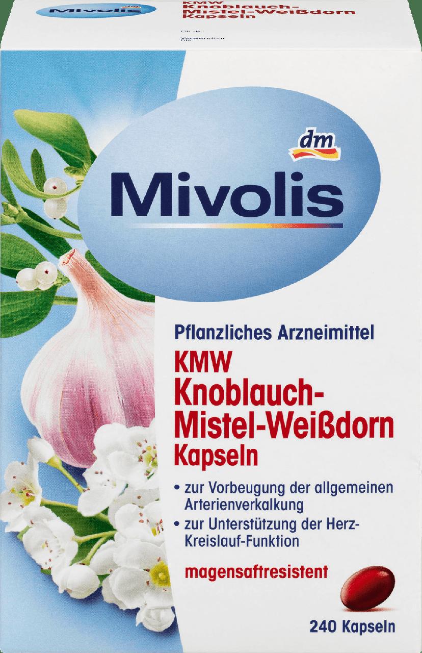 Биологически активная добавка Mivolis KMW с чесноком, омелой и боярышником , 240 шт.