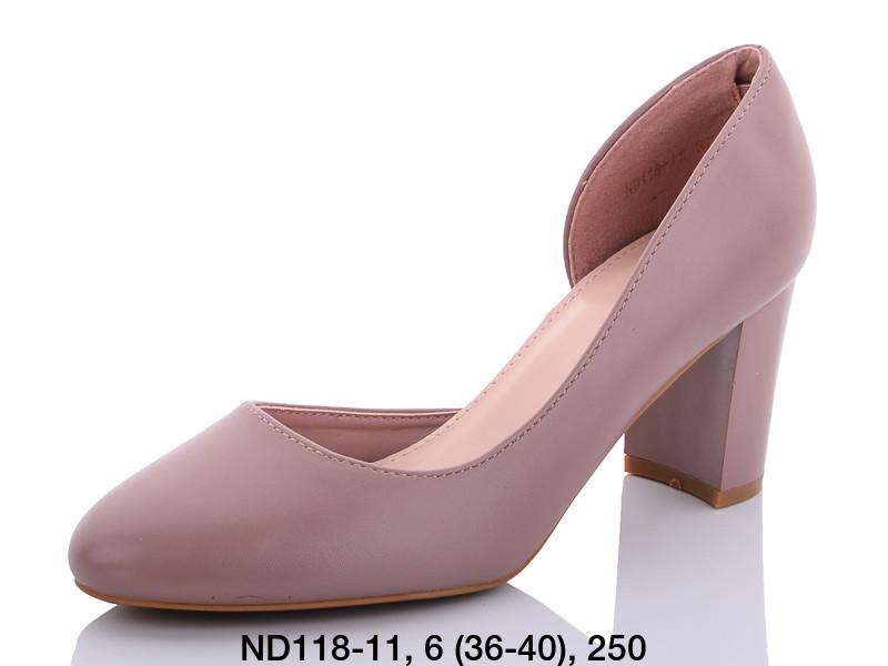 Туфли женские на каблуке коричневые Teetspace-Trasta-Egga-ND118-11