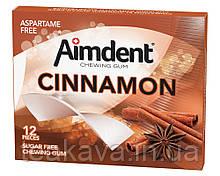 Жувальна гумка без цукру зі смаком кориці Aimdent CINNAMON, 12 шт/уп (жевачка, жуйка)