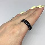 Ониксовый агат кольцо с ониксовым агатом 18,4 размер, фото 3