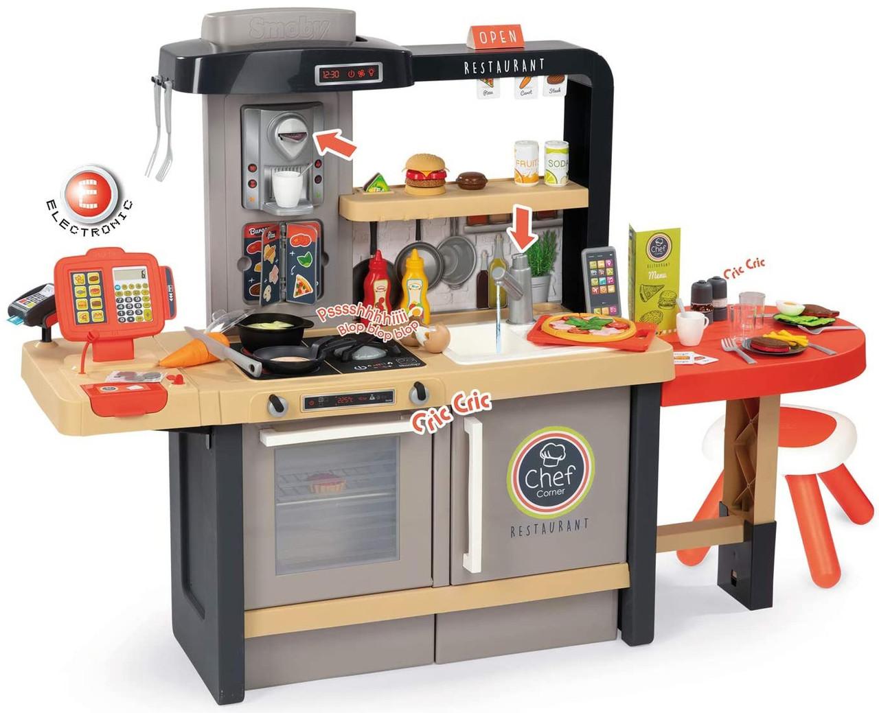 Детская интерактивная игровая кухня ресторан «У Шеф-повара» Smoby для детей